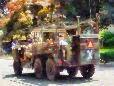 Photograph - Army Vehicle In Parade by Susan Savad