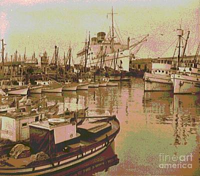 Collier Photograph - Army Transport At Fishermans Wharf San Francisco by Padre Art