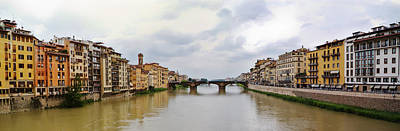 Photograph - Arno River In Florence Italy by Roger Mullenhour