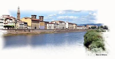 Photograph - Arno River South View by Allan Rothman