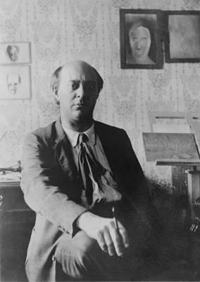 Arnold Schoenberg 1874-1951 Art Print by Everett