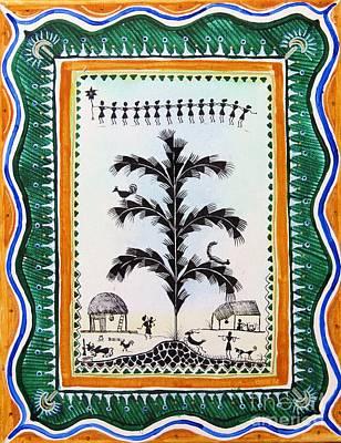Painting - Around The Tree by Anjali Vaidya