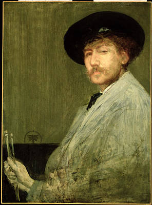 Oil Painter Photograph - Arrangement In Grey - Portrait Of The Painter by James Abbott McNeill Whistler