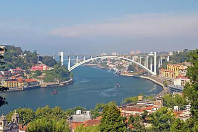 Arrábida Bridge Over River Art Print by Cmanuel Photography - Portugal