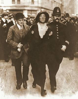 Arrest Of A Suffragette Art Print