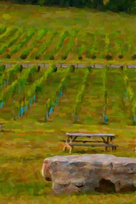 Vineyard Digital Art - Arrington Vineyards by Paul Bartoszek