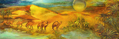 Source Painting - Arrival At The Oasis  by Anne Weirich