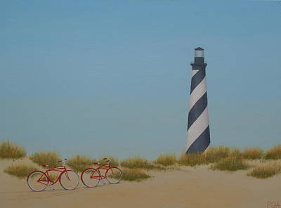 Arriving At Cape Hatteras Art Print
