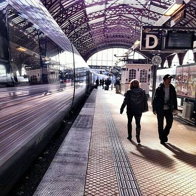 Train Photograph - Arriving In Copenhagen by Luke Kingma