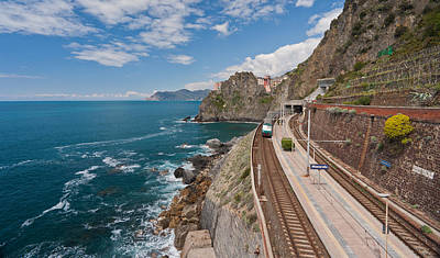 Photograph - Arriving In Manarola by Mike Reid