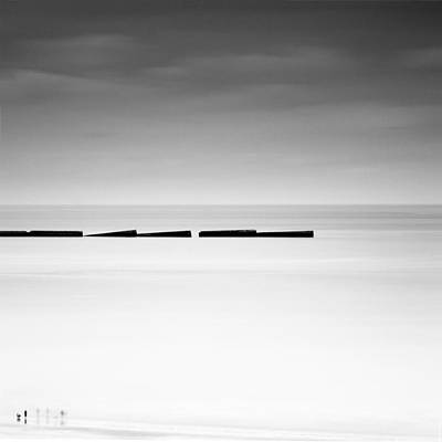Arromanches Les Bain Print by Nina Papiorek