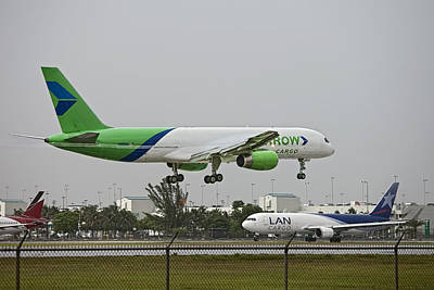 Photograph - Arrow Cargo Landing. Miami. Fl. Usa by Juan Carlos Ferro Duque