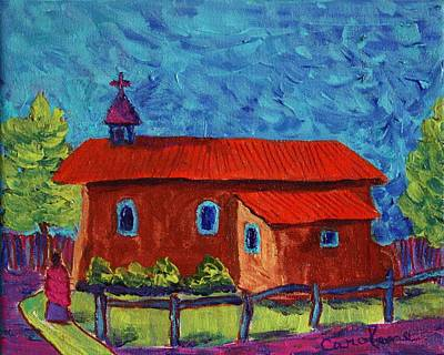 Painting - Arroyo Seco Church by Carolene Of Taos