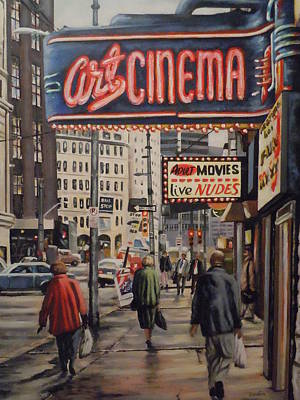 Art Print featuring the painting Art Cinema by James Guentner