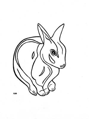 Art Deco Bunny Art Print