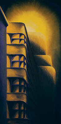 Art Deco Eerie Original by Duane Gordon
