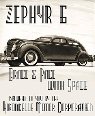 Advertisment Painting - Art Deco Poster Zephyr  by Roberto Prusso