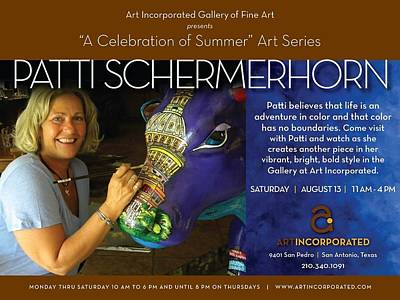 Painting - Art Demonstration At Gallery Art Incorporated by Patti Schermerhorn