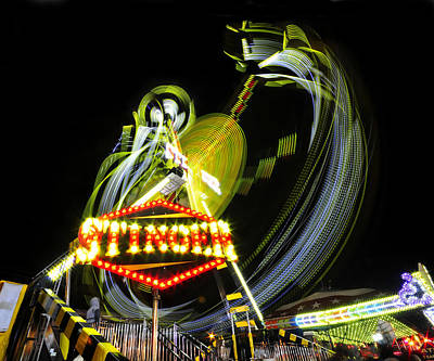 Florida State Fair Photograph - Art In The Night Air by David Lee Thompson