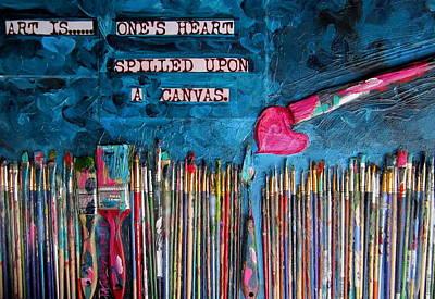 Art Is Blue Version Art Print by Patti Schermerhorn