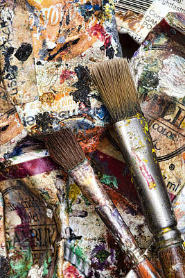 Art Is Messy 1 Art Print by Carol Leigh