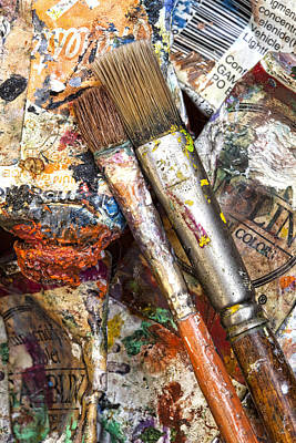 Photograph - Art Is Messy 2 by Carol Leigh