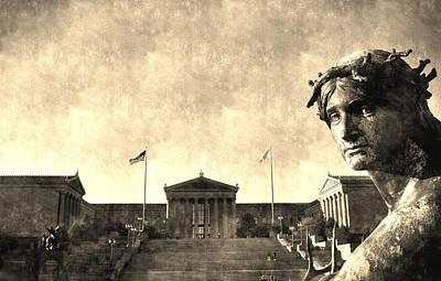 Digital Art - Art Museum Of Philadelphia by Andrew Dinh