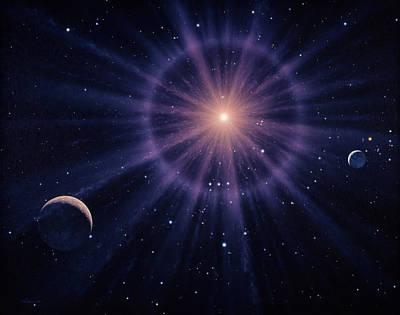 Betelgeuse Photograph - Art Of Betelgeuse As Supernova by Joe Tucciarone