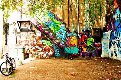 Photograph - Art On The Steps  by Puzzles Shum