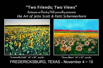 Painting - Art Show Nov 4 by Patti Schermerhorn