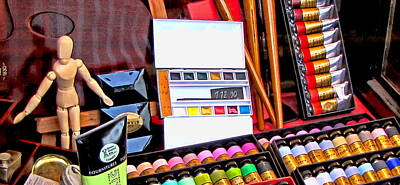 Photograph - Art Supply Store Display by Tony Grider