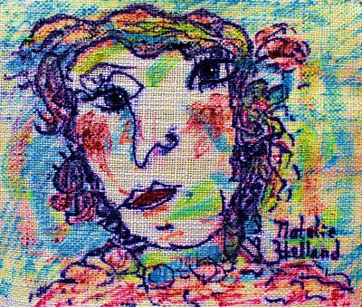 Ivory Art Mixed Media - Art Teacher by Natalie Holland