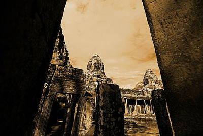 Art Temple Art Print by Arik S Mintorogo