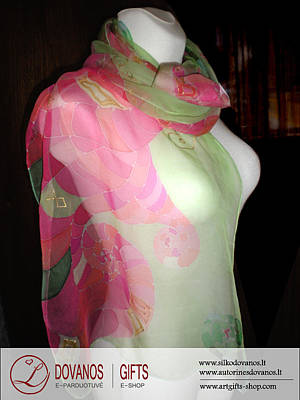 Art To Wear I Fashion I Hand Painted Silk Scarf  Young Love Original by L Gifts E-shop