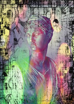Kunst Mixed Media - Artemis by Liona Toussaint