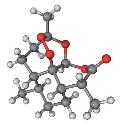 Artemisinin Malaria Drug Molecule Art Print by Laguna Design