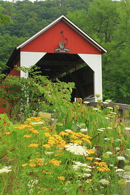 Photograph - Arthur Smith Covered Bridge Colrain Ma by John Burk