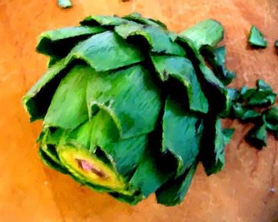 Artichoke Digital Art - Artichoke Two by Alissa Beth Fox