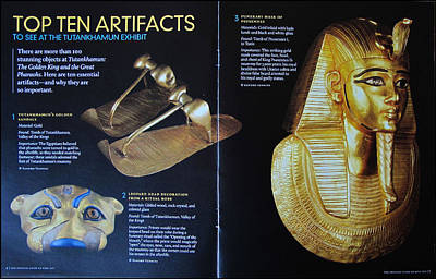 Photograph - Artifacts - King Tut 2010 by Glenn Bautista