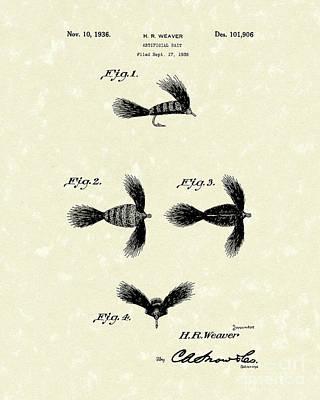 Artificial Bait 1936 Patent Art Art Print