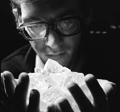 Cubic Zirconia Photograph - Artificial Crystals Research, 1976 by Ria Novosti