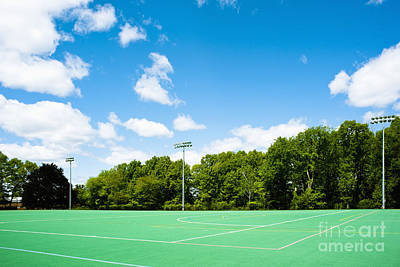 Artificial Turf Athletic Field Art Print by Sam Bloomberg-rissman