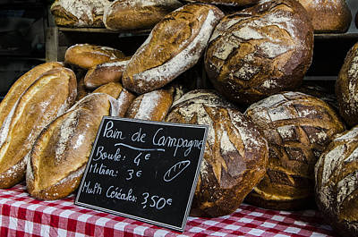 Art Print featuring the photograph Artisan Bread by Marta Cavazos-Hernandez