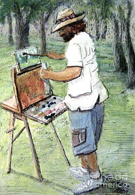 Pastel - Artist At Tunnel Hill by Gretchen Allen