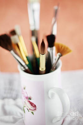 Photograph - Artist Brushes by Stephanie Frey