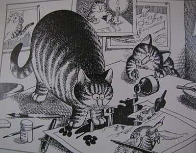 Greety Cards Photograph - Artist Cats by HollyWood Creation By linda zanini