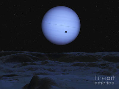 Artist Concept Of Neptune As Seen Art Print by Walter Myers