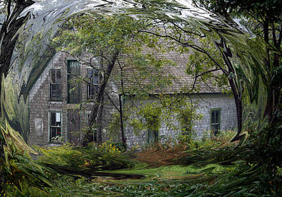 Photograph - Fairy Tale Cottage Abstract by Glenn Gordon