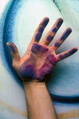 Artist Hand Art Print by Garry Gay
