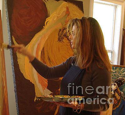 Photograph - Artist In Studio At Work by Lisa Kramer
